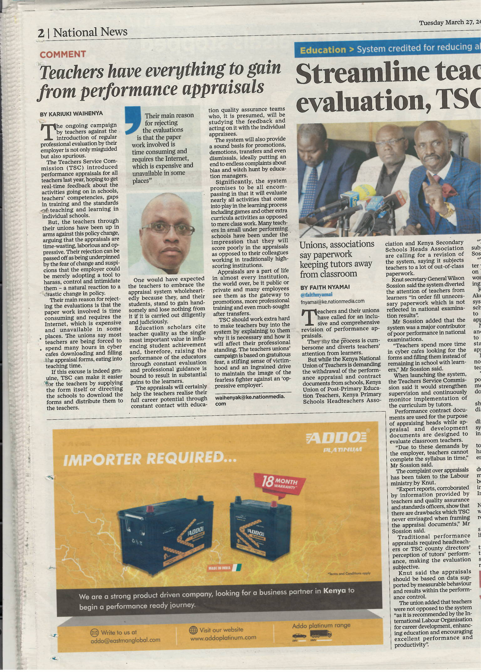 Addo Platinum - Daily Nation Kenya